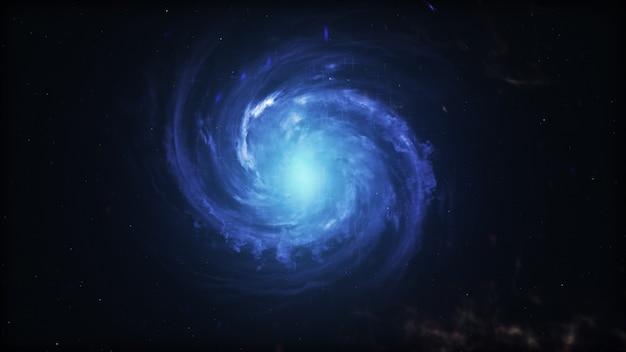 Galaktyka spiralna, ilustracja 3d obiektu kosmosu.