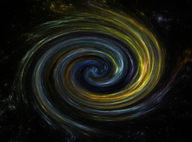 Galaktyka spiralna, tło pola gwiazdy. tło kosmosu