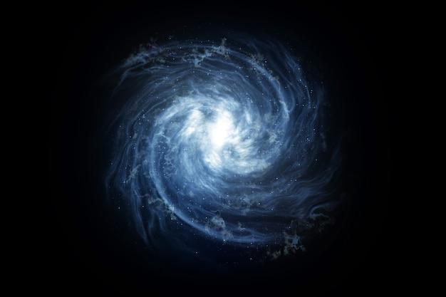 Galaktyka z mgławicą kosmiczną i wieloma gwiazdami, droga mleczna, ilustracja 3d