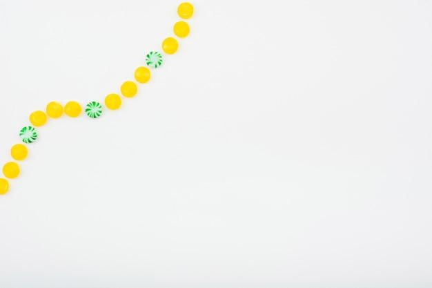 Galaretki owocowe i słodycze wyrównanie spirali