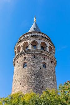 Galata tower w stambule, zamknij szczegółowy widok.