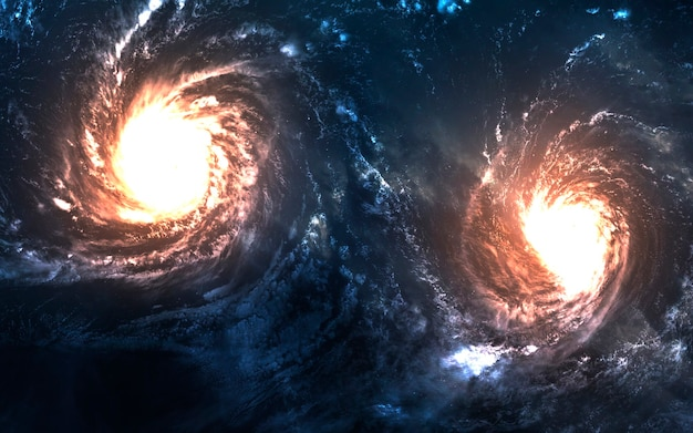 Galaxy, niesamowita tapeta science fiction. elementy tego zdjęcia dostarczone przez nasa