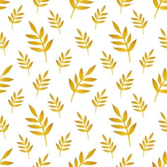 Gałąź tła akwarela bezszwowe wzór liści