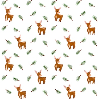 Gałęzie jodły, papier cyfrowy jelenia, wzór gałęzi świerkowych, zimowe tło, minimalistyczny design, świąteczne opakowanie