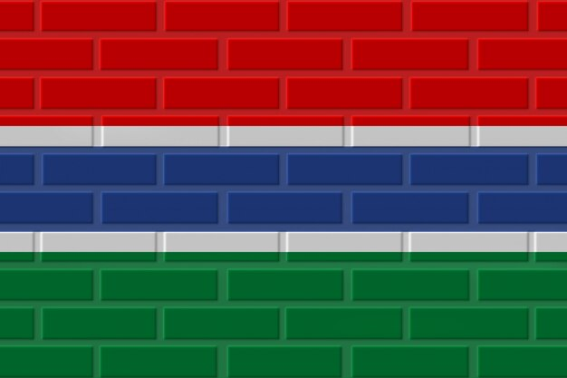 Gambia cegła flaga ilustracja