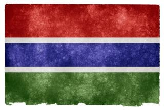 Gambia country flag grunge