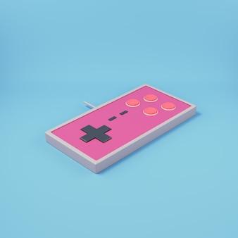 Gamepad w stylu retro na jasnoniebieskim tle