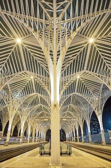 Gare do oriente w lizbonie, portugalia