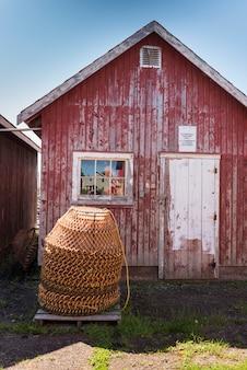Garnków kraba ułożone w rzucić połowów, victoria, prince edward island, kanada
