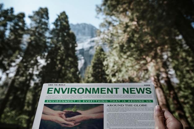 Gazeta ekologiczna w lesie