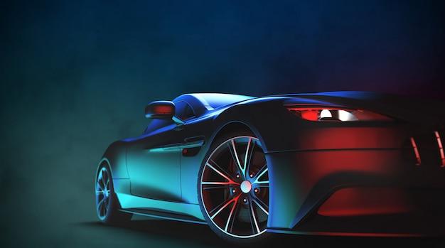 Generyczny i pozbawiony brandów nowoczesny samochód sportowy