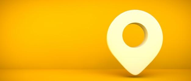 Geolokalizacja ikona renderowania 3d