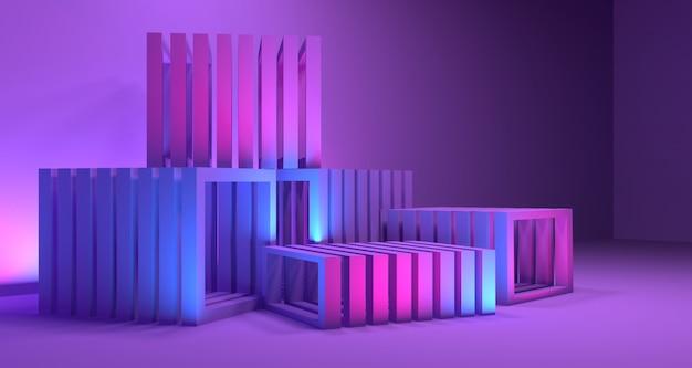 Geometria 3d głębokość tła