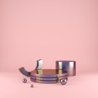 Geometria abstrakcyjny kształt tła z minimalistycznym podium