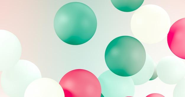 Geometryczne balony na święta, uroczystości, tło zdarzenia.