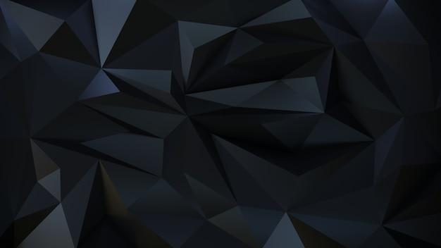 Geometryczne ciemne tło 3d cząstki.