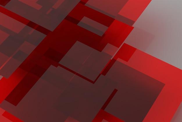 Geometryczne kształty czerwonego szkła na jednolitym tle