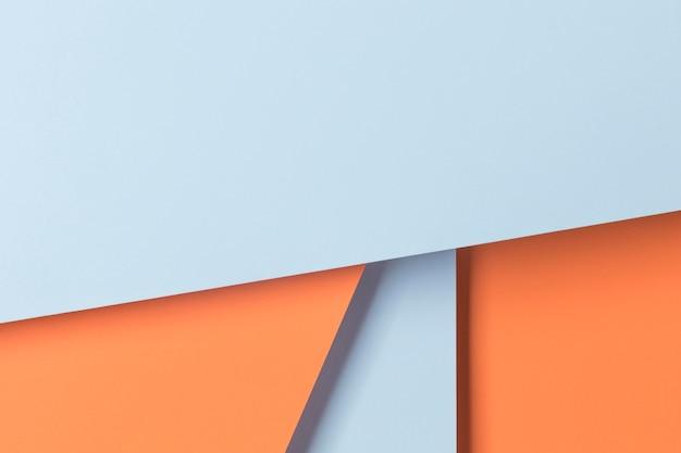 Geometryczne kształty szafek na stole