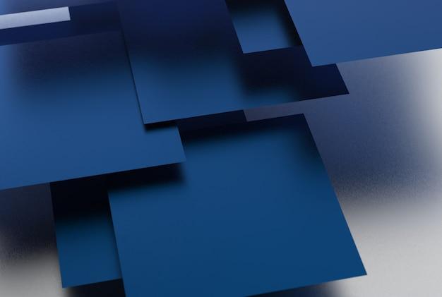 Geometryczne kształty w kolorze niebieskim na jednolitym tle