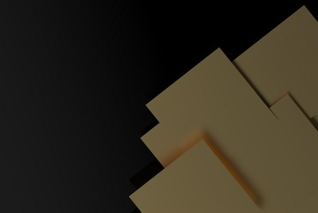 Geometryczne kształty złotego koloru na lokalnym tle