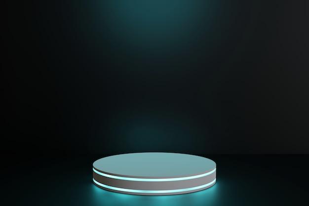 Geometryczne podium scena renderingu 3d prezentacja. minimalistyczny, futurystyczny styl.