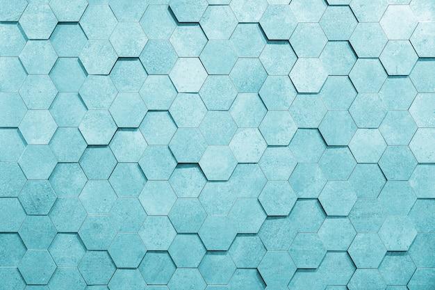 Geometryczne sześciokąty streszczenie srebrnym tle metalu