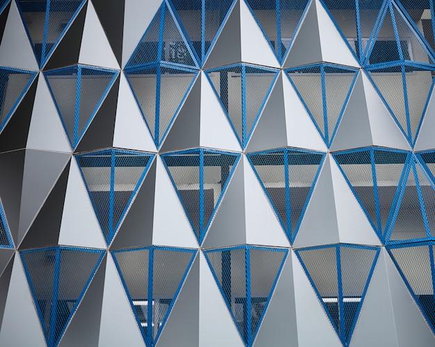 Geometryczny kształt nowoczesnego budynku