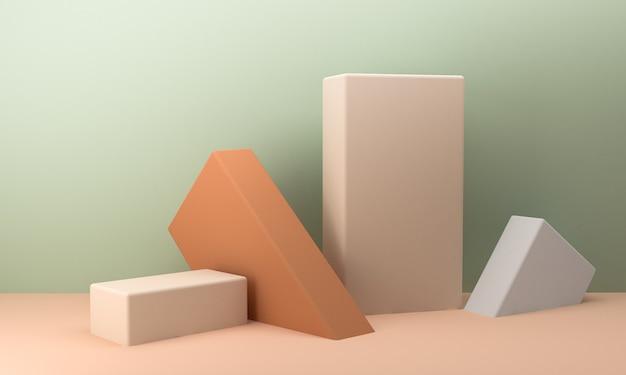 Geometryczny kształt sceny minimalny styl