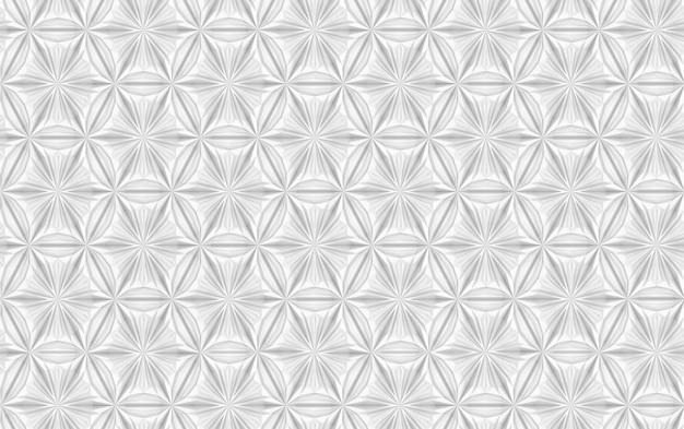 Geometryczny srebrny wzór