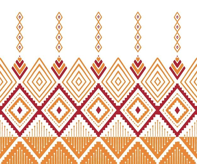 Geometryczny wzór bez szwu w stylu etnicznym