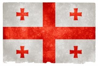 Georgia grunge flag wschód