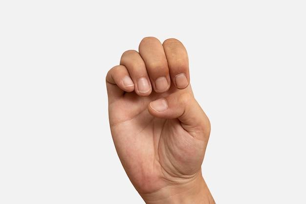 Gest ręki w języku migowym