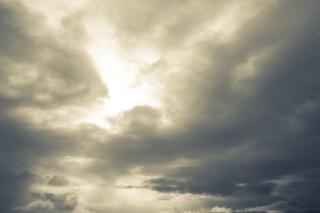 Gęste chmury, burza