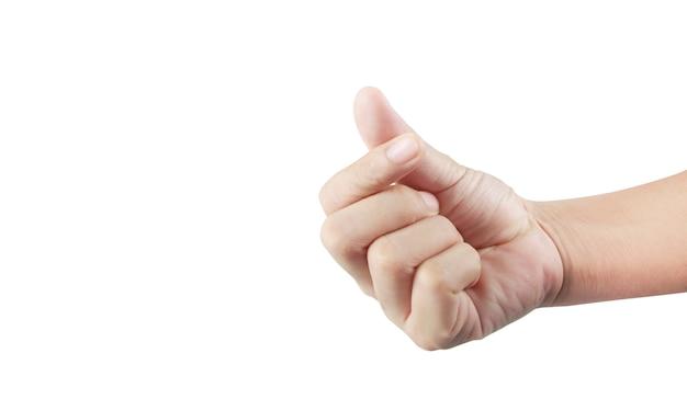Gesty dłoni kocham cię podpisujesz