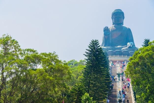 Gigant buddha w hong kong