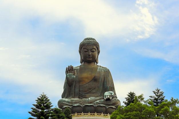 Gigantyczny buddha hong kong