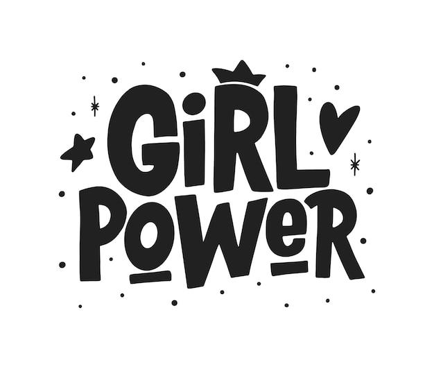 Girl power ręcznie rysowana typografia