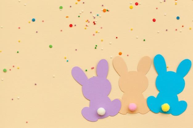 Girlanda wielkanocna banner bunny. girlanda z królika baby shower. 1. wesołe przyjęcie urodzinowe.