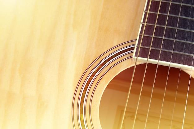 Gitara akustyczna w tle