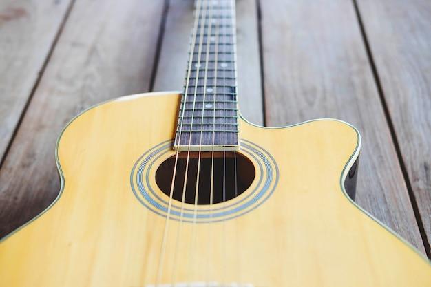 Gitara klasyczna z bliska