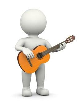 Gitarzysta 3d