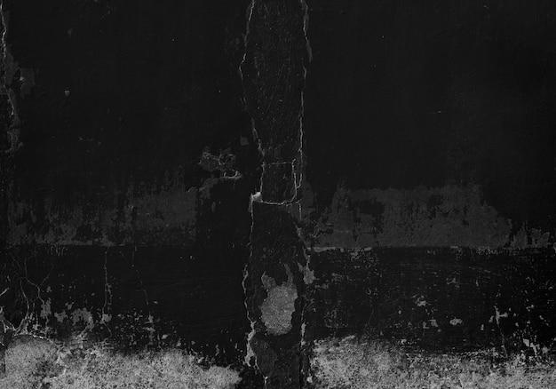 Gładka powierzchnia pęknięty czarny