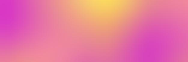 Gładkie tło gradientowe w kolorach różowym i żółtym, format banera.