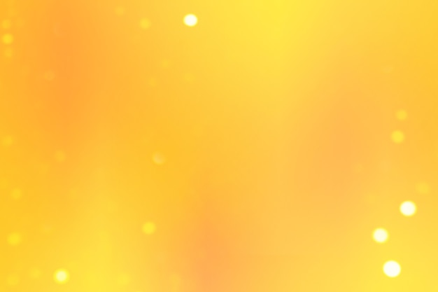 Gładkie tło gradientowe z żółtymi kolorami i światłami bokeh