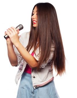 Glamour piosenkarka dziewczyna