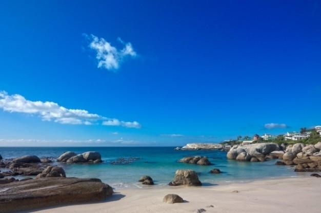 Głazy plaża hdr
