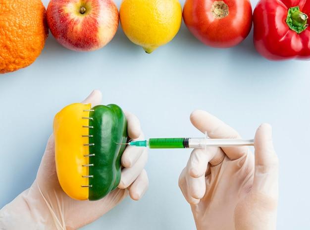 Glina leżała genetycznie zmodyfikowana słodka papryka