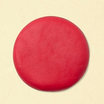 Gliniane koło w kształcie geometrycznym czerwona urocza grafika dla dzieci