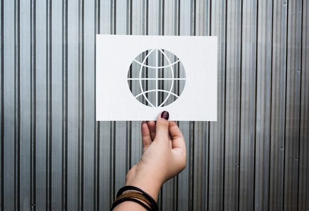 Globalizacja sieci technologii perforowanej globu papieru