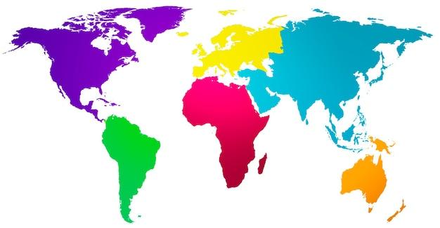 Globalna globalizacja mapa świata koncepcja ochrony środowiska